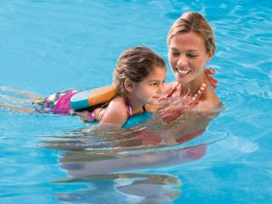 Aquamobile swim pool party, pool party swim instructor