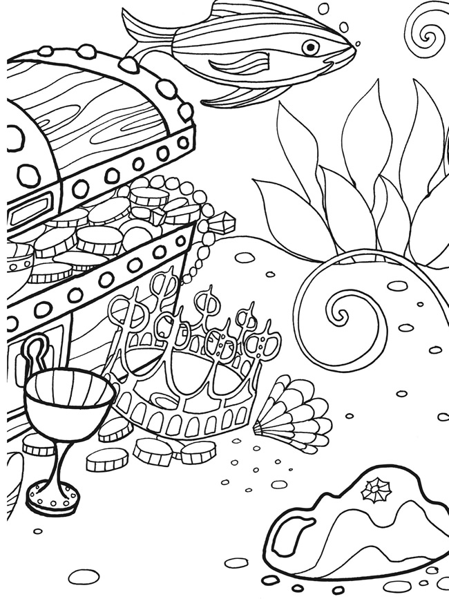 AquaMobile Coloring Sheets Bottom of the Ocean