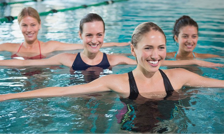 get fit swimming